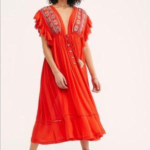 Free People | Will Wait For You Tassel Midi Dress